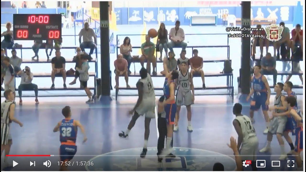 U16M -  STELLA AZZURRA ROMA vs VALENCIA BASKET.- Semifinal Torneo Cadete La Orotava 2019
