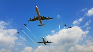 SOUTH AFRICAN AIRWAYS A340 & SA AIRFORCE Fly Past + Display at SA Presidential Inauguration