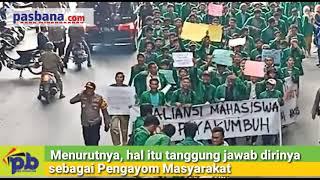 Keren... Kapolres Payakumbuh Ini Turun Langsung Mendampingi Demo Mahasiswa