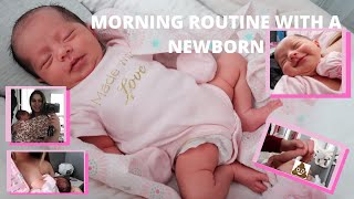 MORNING ROUTINE WITH A NEWBORN (2 WEEKS OLD) | FIRST TIME MOM