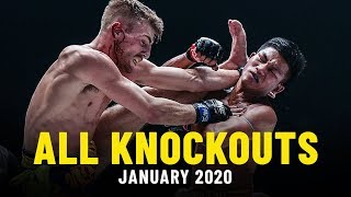 All Knockouts From January 2020 | ONE Full Fights