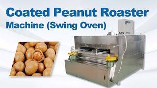 Coated peanut roasting machine (swing oven) youtube video