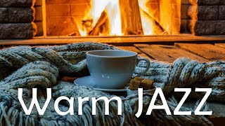 Relaxing Warm JAZZ - Fireplace & Smooth JAZZ  Music For Stress Relief - Chill Out Music