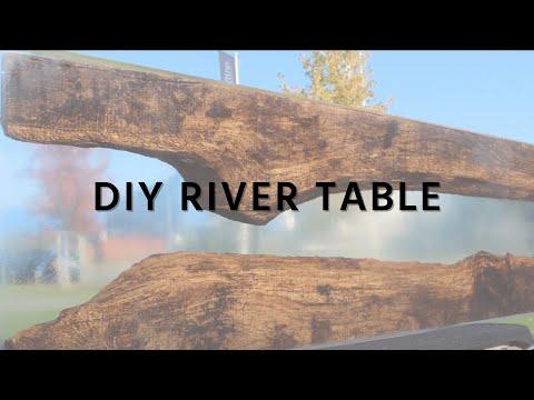 Transparenten River Table mit Epoxidharz gießen | DIY | Gießharz glasklar | HP-Textiles