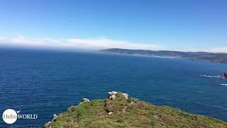 Wegbeispiel spanische Nordküste und Aussicht