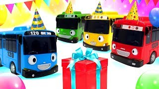 Игрушки в мультике. Приключения Тайо в день рождения. Машины сказки