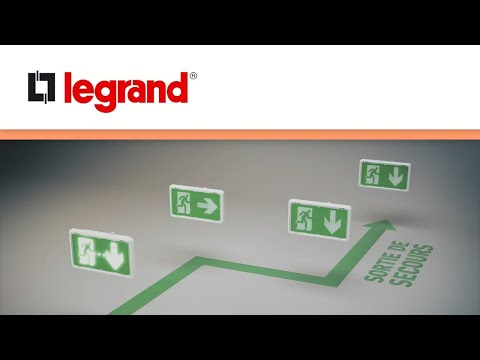 Découvrez le balisage lumineux d'évacuation intégré aux BAES SATI connecté Legrand