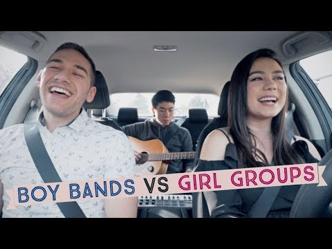 BOY BANDS vs GIRL GROUPS Mashup! | Jessica Zraly, Stephen Scaccia, Randy C (Carpool Cover)