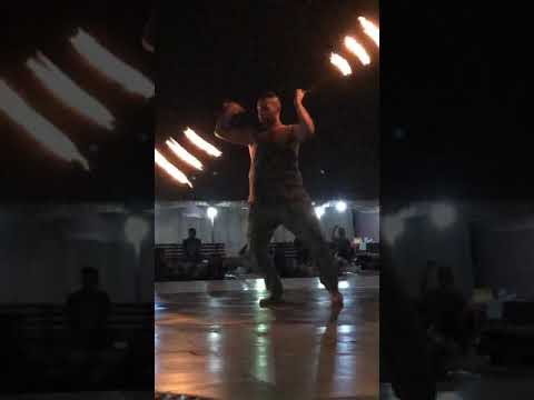 Desert safari dubai Fire dancing
