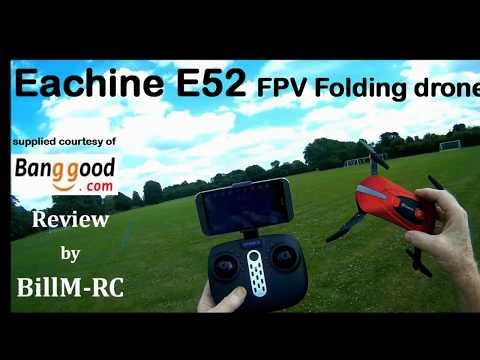 Eachine E52 review - WiFi FPV Folding Selfie Drone