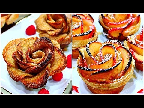 2 ROSE RECIPES - French Toast Roses & Apple Roses