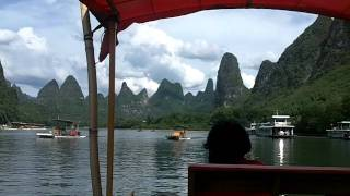 Video : China : The beautiful Li River 漓江, GuangXi province