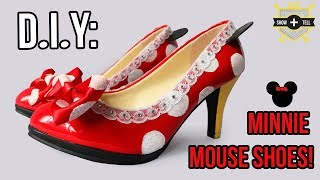 DIY: Minnie Mouse High Heel Shoes Tutorial!