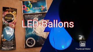 LED Luftballons mit Helium befüllen (ZWEI Typen) | deutsch