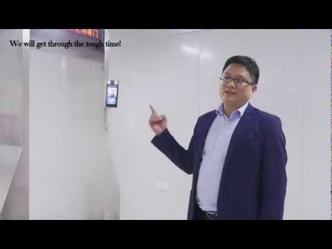 Intelligent Face Recognition Temperature Detection and Disinfection Door