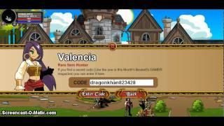 aqw new code in valencia 2011 for dragon khan sword