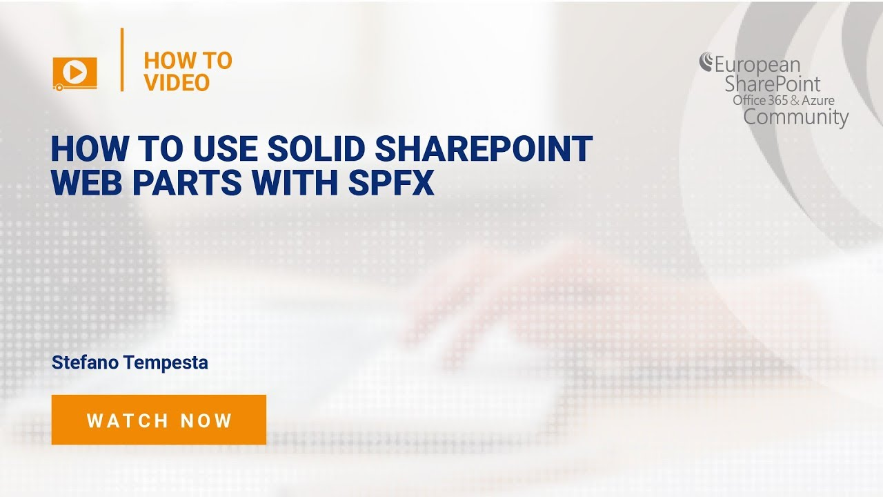 How to use SOLID SharePoint Web Parts with SPFx