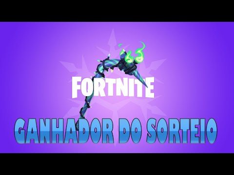 GANHADOR DO SORTEIOFortnite Merry Mint Pickaxe VOVO JOGA TAMBEM