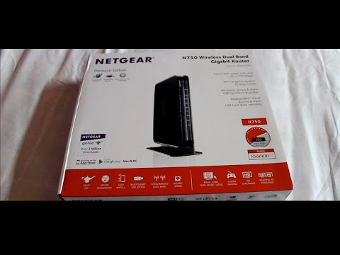 Netgear N750 Unboxing With Review