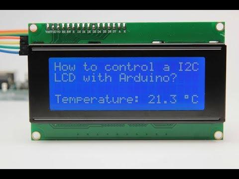 BANGGOOD How to use IIC I2C 2004 204 20 x 4 Character LCD with Arduino