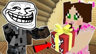 Minecraft: CHRISTMAS TROLLING JEN!!! (EXPLOSIVE PRESENTS, FALLING ICICLES!, & MORE!) Custom Command
