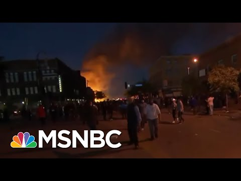 Flames And Tear Gas Break Out At Minneapolis Protest | The Last Word | MSNBC