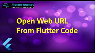 How to Open Web URL From Flutter Code?