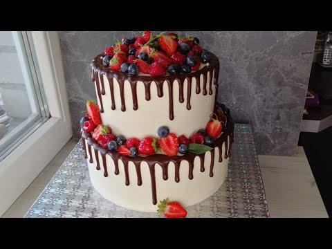 Как собрать и выровнять двухъярусный торт для транспортировки