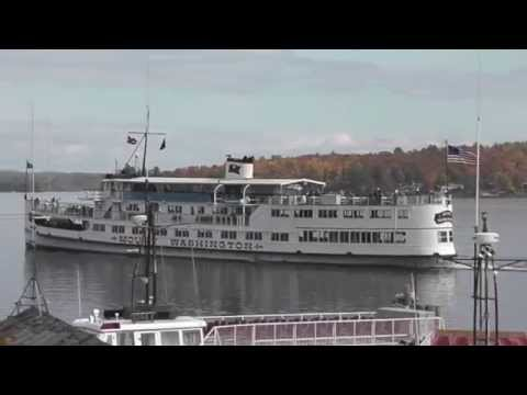 The MS Mount Washington the Pier at Weirs Beach