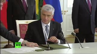 Пресс-конференция Путина и Темера