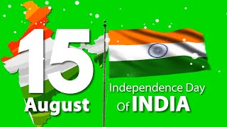 Green Screen Indian Flag Download | 15 August status video | Indian independence day status video 20