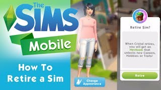 The Sims Mobile - How To Retire a Sim and More - iOS