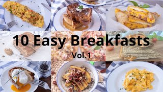 Top 10 Easy Breakfast | 10道簡易早餐|Breakfast Recipes | 早餐食譜