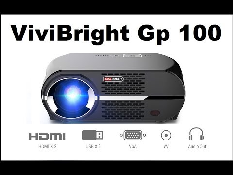 ViviBright GP100 Video Projector, LeD 1080P Review! Best $200 Projector