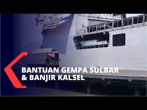 Pakai KRI Banda Aceh, TNI AL dan Jawa Timur Kirim Bantuan Gempa Sulbar dan Banjir Kalsel