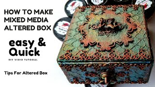 Altered Box | Altered Art | Mixed Media Altered Box | Step By Step | Mixed Media Tutorial