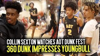 Collin Sexton Pulls Up To Watch Sharife Cooper & Brandon Boston + AOT CRAZY Dunk Contest IN GAME!!