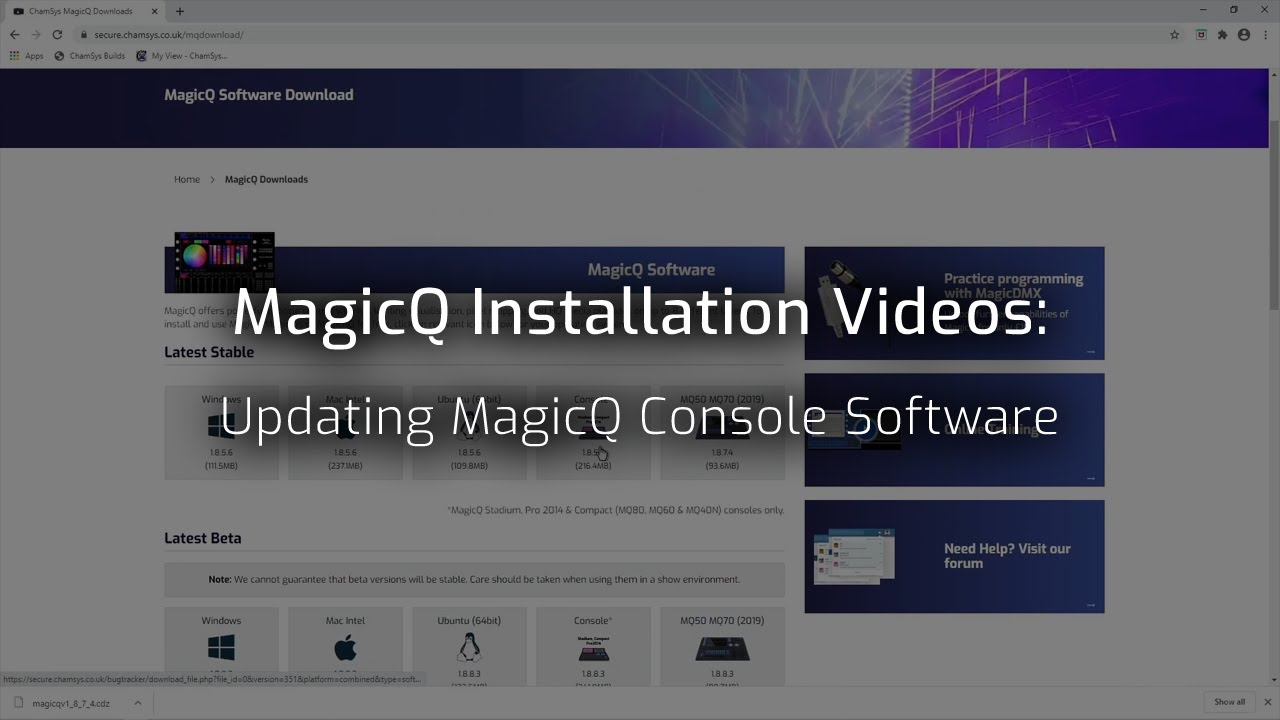 Updating MagicQ Console Software