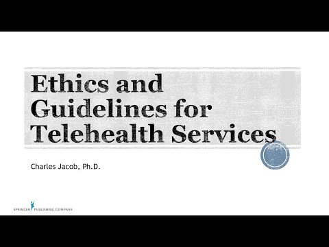 , title : 'Ethics and Guidelines for Telehealth Services in Mental Health, featuring Dr. Charles Jacob