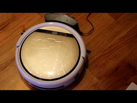Chuwi ILIFE V5s Review - Robot Vacuum Cleaner with Water Tank Mop - Gold - Unboxing