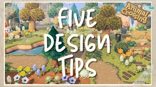 5 Design Tips to elevate your island   Animal Crossing New Horizons