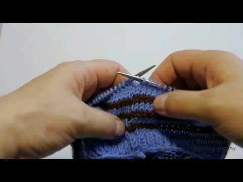 комфортом цветное вязание на спицах видио урок лучшее
