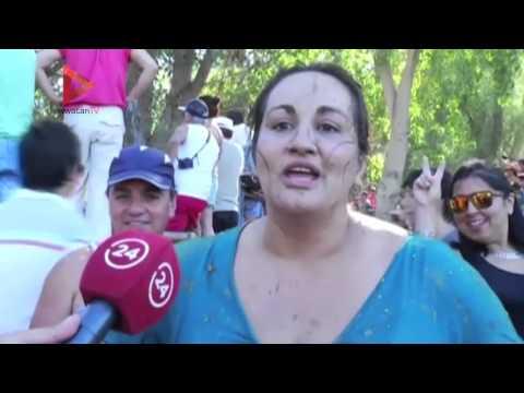 حرب الطماطم تشتعل في تشيلي في احتفال سنوي