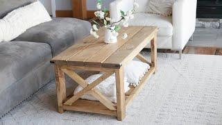 $40 Farmhouse Coffee Table - Easy To Build #anawhite