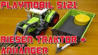 """""""PLAYMOBIL 5121 RIESEN TRAKTOR + ANHÄNGER """" -Vorstellung"""