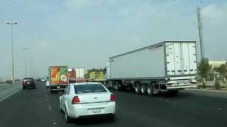 preview picture of video 'Massive truck convoy going along Highway 40 towards Kuwait City.'