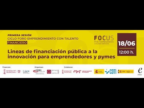 Líneas de Financiación pública a la innovación para emprendedores y pymes[;;;][;;;]