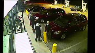 RAW VIDEO  Police Seek Men In Shootout At Gas Station