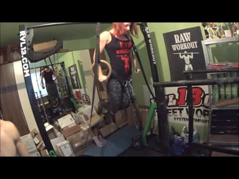 Weighted reps (40kg muscle up, 140kg dip, girl 15kg muscle up, 50kg dip..)