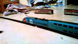 """Детская Железная дорога Mehano (Т114) —  двухэтажный TGV OUIGO от компании Интернет-магазин """"Timatoma"""" - видео 2"""
